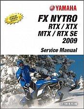 Buy 2008-2009 Yamaha FX Nytro RTX / XTX / MTX / RTX SE Snowmobile Service Manual CD