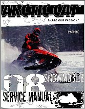 Buy 2008 Arctic Cat 2-Stroke Snowmobile Service Manual CD - Panther Crossfire F5 F6