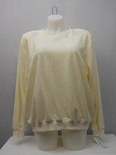 Buy Womens Fleece Sweatshirt PLUS SIZE 2X ALFRED DUNNER Ivory Crew Neck Long Sleeve