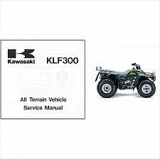 Buy 1986-2006 Kawasaki KLF300 Bayou 300 2x4 / 4x4 ATV Service Manual on a CD
