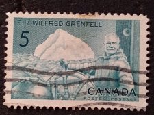 Buy Canada Used 1v 1965 Stamp 5c Used #438 - Sir Wilfred Grenfell and Ship