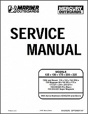 Buy Mercury & Mariner 135 / 150 / 175 / 200 / 225 Outboard Motors Service Manual CD