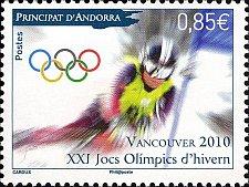 Buy Andorra FRENCH 20101v MNH Winter Olympics 2010, Vancouver