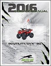 Buy 2016 Arctic Cat Utility 90 / DVX 90 Service Repair Workshop Manual CD --- DVX90