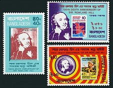 Buy Bangladesh mnh set of 3 Sir Rowland Hill Michel 123-125 Stamp on stamp