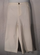 Buy Womens Capris INC PLUS SIZE 24W White Zipper Button Closure Pockets Relaxed Legs