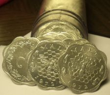Buy Gem Unc Roll (40) Malta 1972 3 Mils Coins~Bee And Honeycomb~Scalloped~Free Ship