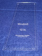 """Buy Windmill - Makes 12"""" Finished Square-- 1/8"""" Clear Acrylic - Quilting Templates-"""