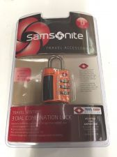 Buy new Samsonite orange Combination Lock TSA airport accepted luggage baggage new