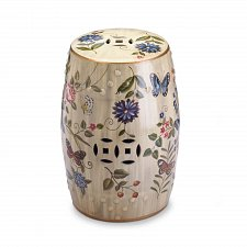 Buy *17413U - Butterfly Garden Ceramic Stool Accent Table