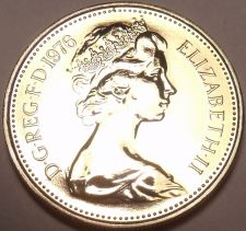 Buy Great Britain 1976 5 New Pence Proof~100,000 Minted~Scarce