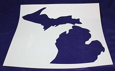 """Buy State of Michigan Stencil Mylar 14 Mil 19"""" H x 17.5""""W - Paint /Crafts/ Template"""