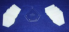 """Buy Mylar 1"""" Starpoint- 51 Piece Set - Quilting / Sewing Templates -"""