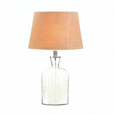 Buy *17606U - Clear Hammered Glass Jug Bottle Lamp w/Shade UL Recognized