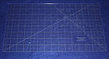 """Buy 15"""" x 8"""" Ruler Acrylic 1/8"""" thick. Quilting/Sewing/Embroidery"""