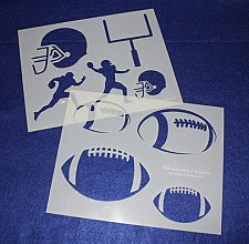 Buy 2 Pc Set -Mylar 14 Mil Football Stencils Painting/Crafts/Stencil/Template