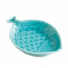 Buy *16517U - Swimming Sea Blue Fish Porcelain Decorative Dish