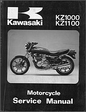 Buy 81-83 Kawasaki KZ1000 KZ1100 Service Repair Manual CD - KZ 1000 1100