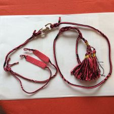 Buy Falconry Arabic Anklet, swivel and leash set Large (Claret & Black)