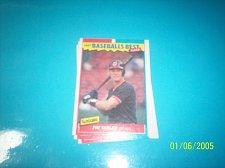 Buy 1987 Fleer Baseballs Best Sluggers Vs Pitchers PAT TABLER #42 FREE SHIP