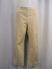 Buy SIZE 18 Casual Pants CHARTER CLUB Solid Sand Side Zipper Closure Straight Leg