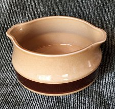 Buy La Mesa Stoneware Baking Dish Crock Bowl Gravy Boat GLA Brown Stripe Oven Safe