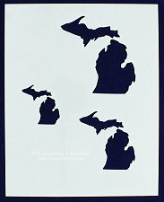 """Buy State of Michigan Stencil 8"""" x 10"""" - 2"""", 3"""", 4""""--14 mil Mylar Painting/Crafts"""