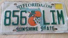 Buy Florida FL Auto Car Truck License Plate Tag# 856 LIM (405)