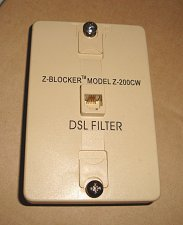 Buy Excelsus Z Blocker wall single DSL Filter Model Z 200CW phone jack line plug