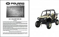Buy 2011 Polaris Ranger RZR SW Service Repair Workshop Manual CD