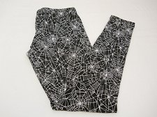 Buy SIZE S Women Ankle Leggings Spider Web Halloween GOTHABILLY Black Inseam 28