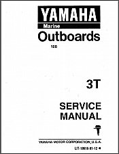 Buy Yamaha 3T 3 HP 2-Stroke Outboard Service Manual on a CD