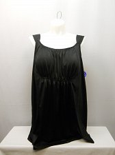 Buy PLUS SIZE 28 Women 2PC Smocked Swimdress SWIM365 Solid Black Scoop Neck