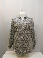 Buy PLUS SIZE 0X Women Button Down Shirt STYLE&CO Chevron Collared Neck Long Sleeve