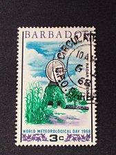 Buy Barbados stamp 1v used 1968 - SG 372 World Meteorological Day