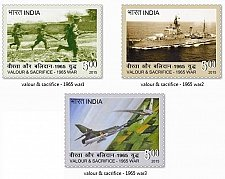 Buy INDIA 2015 Set of 3 DIFF COMMEMOrative Stamps ON Valour & Sacrifice