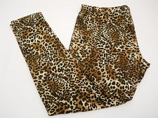 Buy Womens Leggings Sueded Jersey SIZE XL Animal Skinny Legs Inseam 28