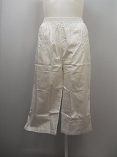Buy PLUS SIZE 20W Women Cotton Capris Solid White Straight Legs Inseam 20 Elastic
