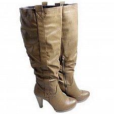 Buy Womens BOOTS SIZE 5-9 DULCE RUBIO Knee High High Heel Med Width Brown Zipper