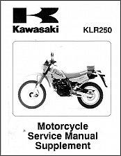 Buy 1985-2005 Kawasaki KLR250 / KLR600 Service Manual on a CD