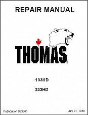 Buy Thomas 183 / 233 ( 183HD / 233HD ) Skid Steer Loader Service Manual on a CD