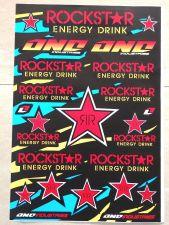 "Buy 1 X Racing Team Rockstar stickers sticker Vinyl sheet pack kit 12"" X 18"""