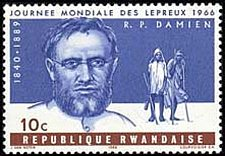 Buy Rwanda1966 Stamp1966 1v mnh Father Joseph Damien World Leprosy Day