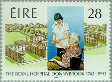 Buy Ireland MNH 1v 1993 stampThe Royal Hospital Donnybrook 1743-1993