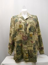 Buy PLUS SIZE 20W Womens Button Shirt Allison Daley Collared Long Sleeves Floral