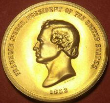Buy Gem Unc Franklin Pierce Presidential Bronze Inauguration Medallion~Free Shipping
