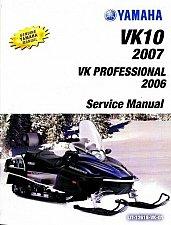 Buy 2006-2012 Yamaha VK Professional VK10 Viking Snowmobile Service Manual CD