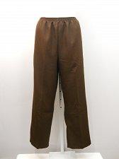 Buy PLUS SIZE 22W Womens Casual Pants SALON STUDIO Solid Brown Elastic Inseam 29