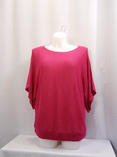 Buy INC Womens Sweater Plus Size 0X Pink Kimono Scoop Neck 4% Angora Rabbit Hair