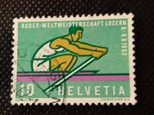 Buy Switzerland 1V USED STAMP 1962 World Championships Rowing